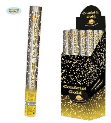 goldende Konfetti Kanone für Silvester ca. 40 cm