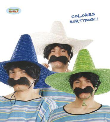 bunter mexikanischer Sombrero Hut für Erwachsene ca. 50 cm
