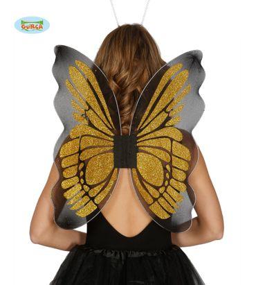 goldene Schmetterling Flügel für Damen ca. 46 x 54 cm