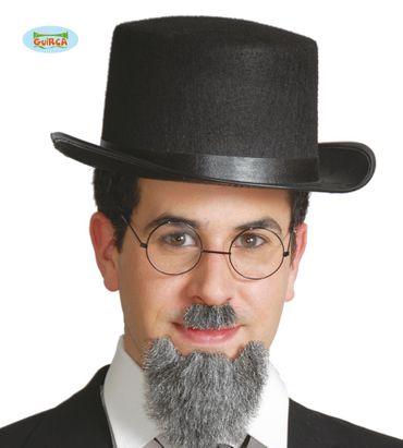 schwarzer Zylinder aus Filz - Hut für Erwachsene