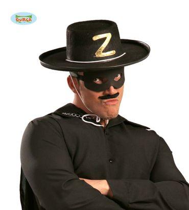 Schwarzer Rächer Z Bandit Hut für Herren