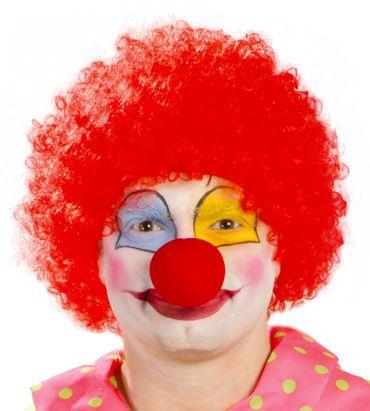 rote Clown Locken Perücke für Erwachsene