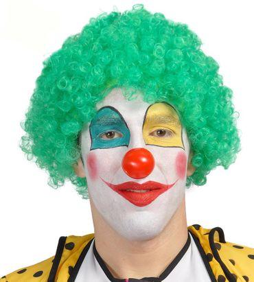grüne Clown Locken Perücke für Erwachsene