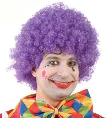 Lila Clownperücke für Damen und Herren