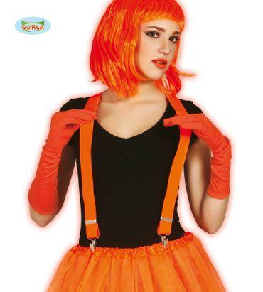 neon orange Hosenträger für Erwachsene