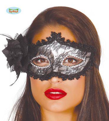 sexy silberne venezianische Maske für Damen