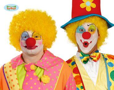 Gelbe Afro Locken Perücke zum Clown Kostüm