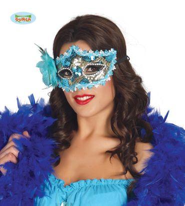 sexy blaue venezianische Maske für Damen