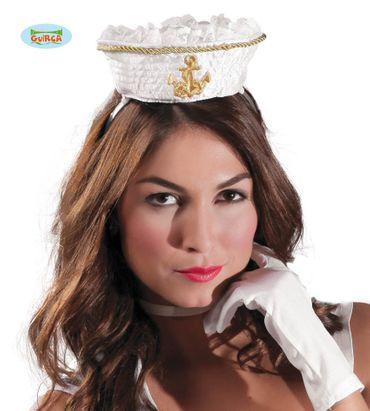 Mini Matrosen Mütze auf Haarreif für Damen