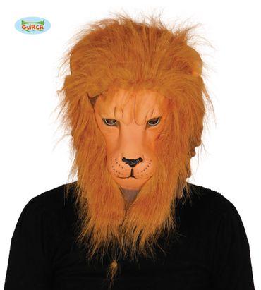 Löwenmaske mit Haaren Fell Mähne Löwe Maske