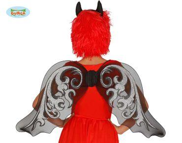 schwarze Flügel für Damen