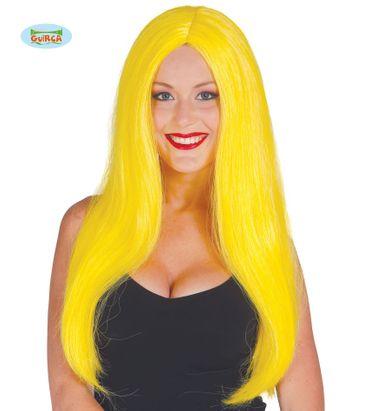Extra lange Damen Perücke in gelb
