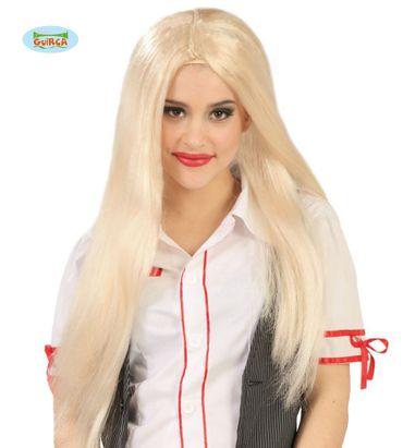 Extra lange Damen Perücke in blond 60cm