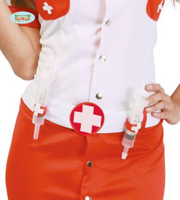 Gürtel mit zwei Spritzen für Krankenschwester
