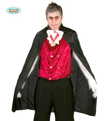 schwarzer Vampirumhang für Erwachsene, 110 cm