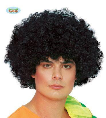 große schwarze Afro Locken Perücke für Erwachsene