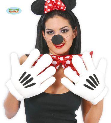 große weiße Comic Handschuhe für Erwachsene