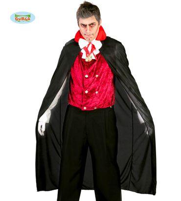 schwarzer Vampirumhang für Erwachsene, 140 cm