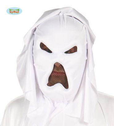 Geister Maske mit Kapuze für Erwachsene