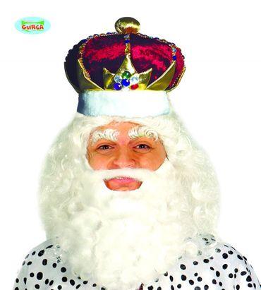 edel verzierte Krone - Mütze für Erwachsene