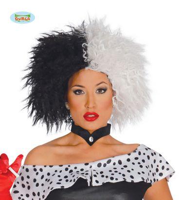 schwarz weiße Afro Perücke für Damen
