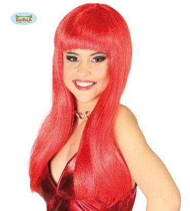 rote Teufel Hexen Perücke für Damen