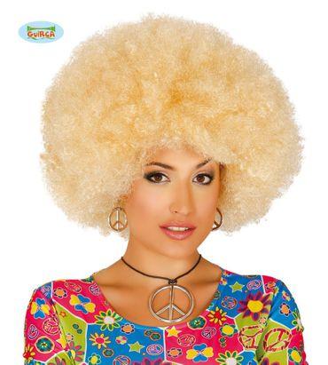 blonde Afro Perücke für Erwachsene