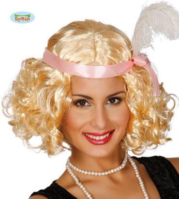 blonde Charleston Perücke für Damen