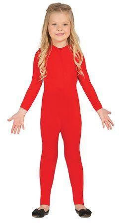 elastischer roter Ganzkörperanzug für Kinder Gr. 104-146