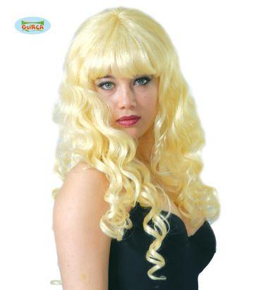 blonde lange Locken Perücke für Damen