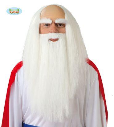 Druide Perücke mit Bart für Herren