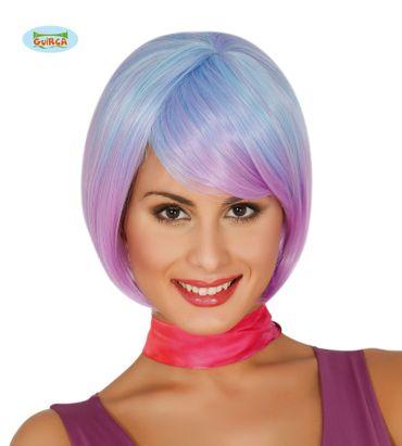lila-blaue Kurzhaar Disco Perücke für Damen lila-blaue Kurzhaar Disco Perücke für Damen