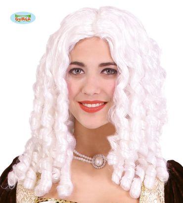 weiße Barock Marquise Perücke Korkenzieher Locken für Damen