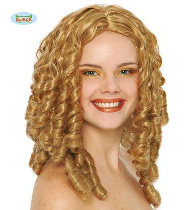 lange blonde Korkenzieher Locken Perücke für Damen