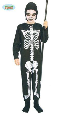 Skelett Kostüm für Kinder Gr. 110-146