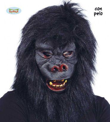 Gorilla Maske mit Haaren für Erwachsene