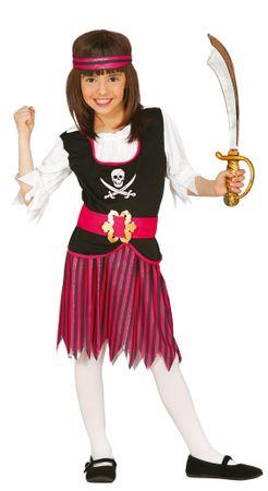 Piraten Kostüm für Mädchen Gr. 110-146