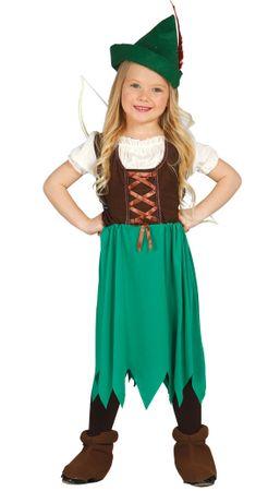 Bogenschütze Kostüm für Mädchen Gr. 98 - 134
