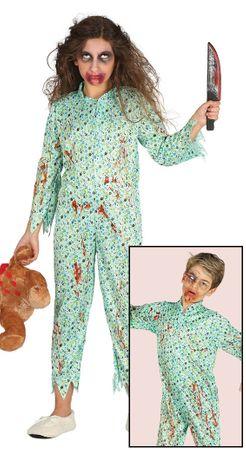 blutiges Zombie Mädchen im Schlafanzug Gr. 110-146