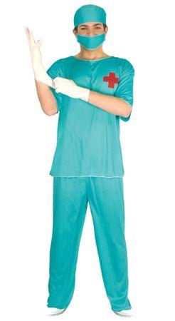 OP Chirurg Kostüm für Herren Gr. 8434077881484