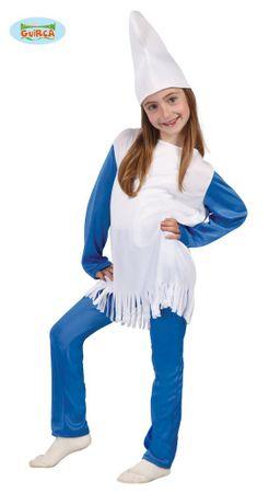 kleine blaue Zwergin - Kostüm für Mädchen Gr. 110 - 146