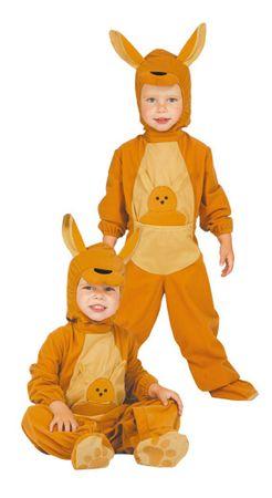 Känguru Baby - Kostüm für Kinder Gr. 86 - 98