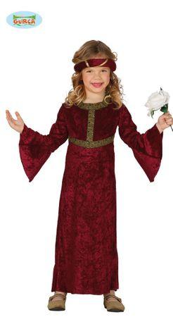 Burgfräulein - Kostüm für Mädchen Gr. 98 - 146