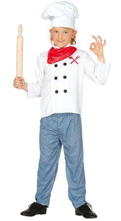 Kochkostüm Kostüm für Kinder Küchenchef Fasching Küche kochen Restaurant