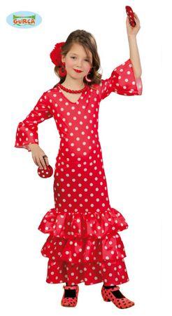 spanische Flamenco Tänzerin Kostüm für Mädchen Gr. 98-146