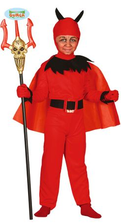 Teufel mit Umhang Kinder Kostüm Gr. 98/104