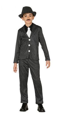 Gangster Mafia Anzug für Jungen Gr. 110-146