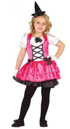 rosa Hexen Kleid Kostüm für Mädchen Gr. 98-134