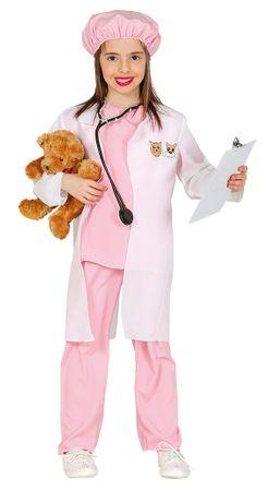 rosa Tierärztin Kostüm für Mädchen Gr. 98-134