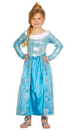 Prinzessin Kostüm für Mädchen blau Eis Kinderkostüm Königin